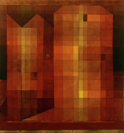 """Paul Klee """"Burg 1"""" 25 x 27 cm 1"""
