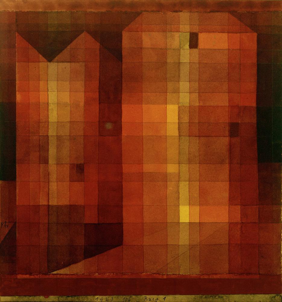 """Paul Klee """"Burg 1"""" 25 x 27 cm"""