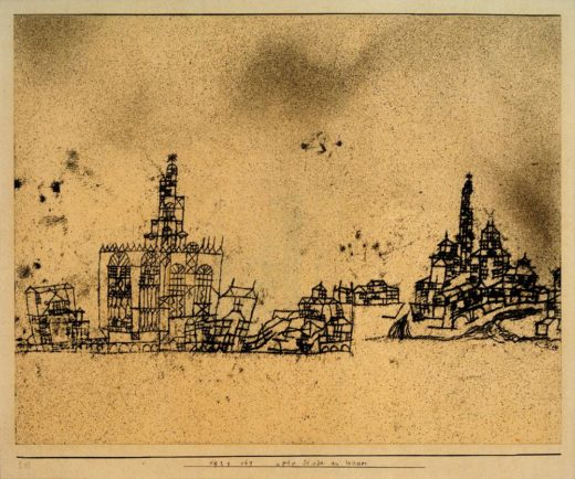 """Paul Klee """"Alte Stadt am Wasser"""" 35 x 28 cm 1"""