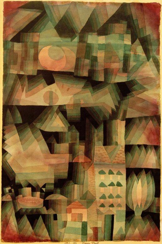 "Paul Klee ""Traum-Stadt"" 31 x 48 cm 1"