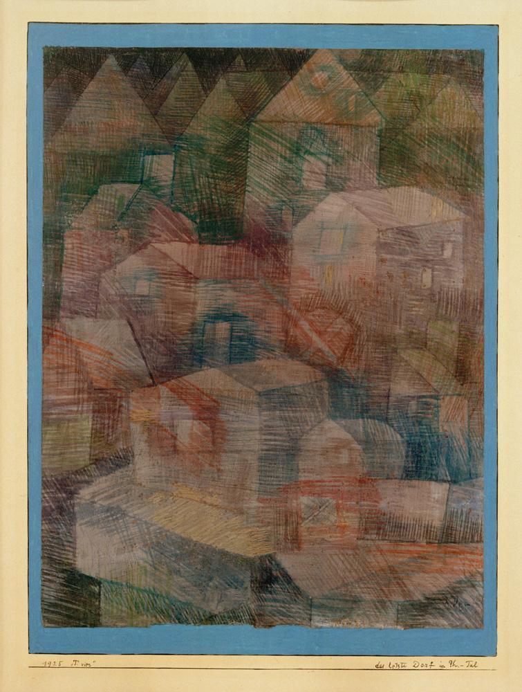 """Paul Klee """"Das letzte Dorf im Ph.–Tal"""" 24 x 32 cm"""
