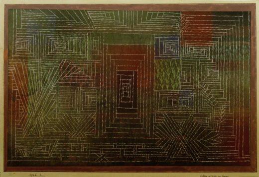 """Paul Klee """"Schloss im Wald zu bauen"""" 38 x 25 cm 1"""