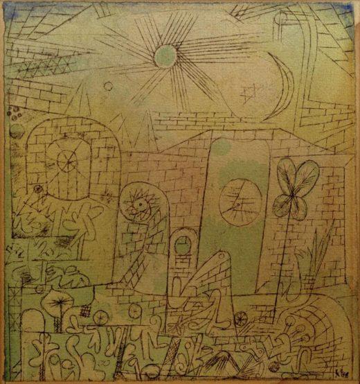 """Paul Klee """"Frühlings-Sonne"""" 15 x 15 cm 1"""