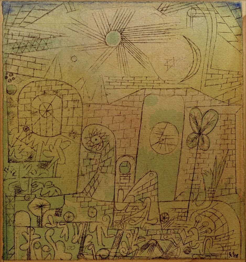 """Paul Klee """"Frühlings-Sonne"""" 15 x 15 cm"""