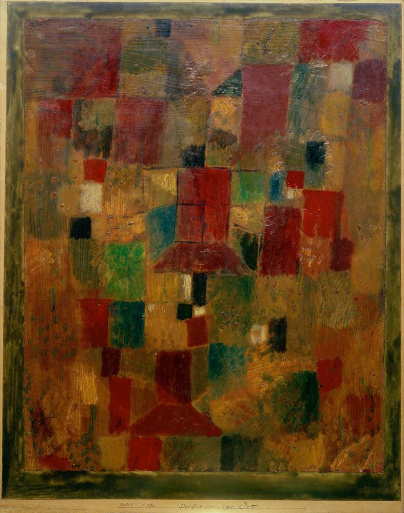 "Paul Klee ""Herbstsonniger Ort"" 35 x 44 cm"