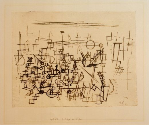 """Paul Klee """"Gedränge im Hafen"""" 30 x 23 cm 1"""