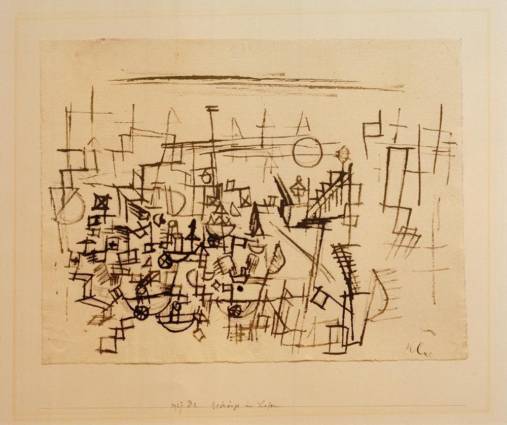 """Paul Klee """"Gedränge im Hafen"""" 30 x 23 cm"""
