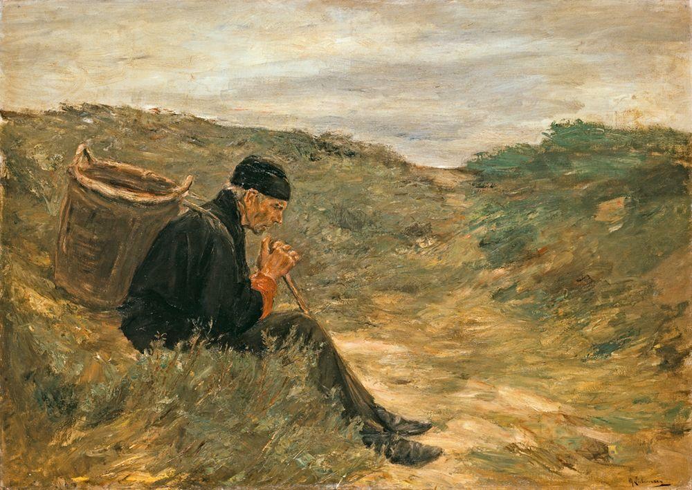 """Max Liebermann """"In den Dünen"""" 151 x 108 cm"""