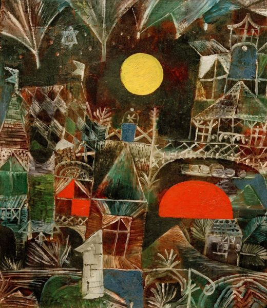 "Paul Klee ""Mondaufgang Sonnenuntergang"" 35 x 41 cm 1"