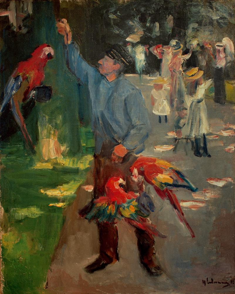 """Max Liebermann """"Papageienmann im Amsterdamer Zoo"""" 70 x 84 cm"""
