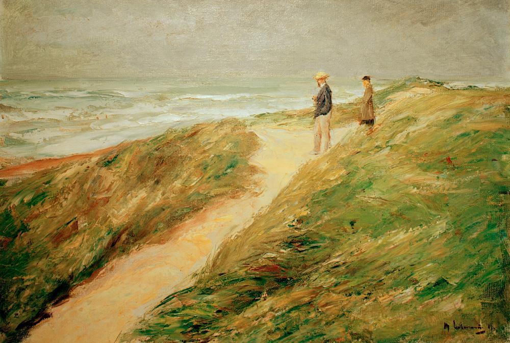 """Max Liebermann """"Düne und Meer"""" 73 x 51 cm"""