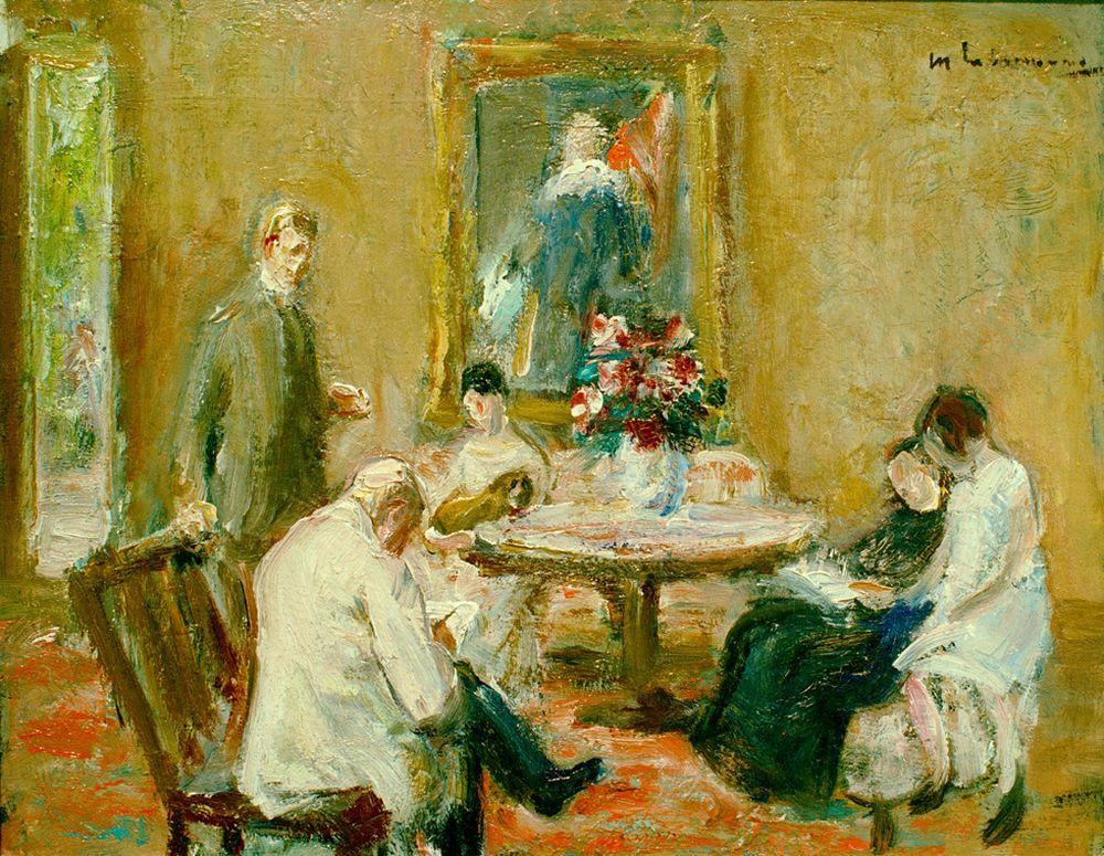 """Max Liebermann """"Familie Liebermann"""" 41 x 33 cm"""