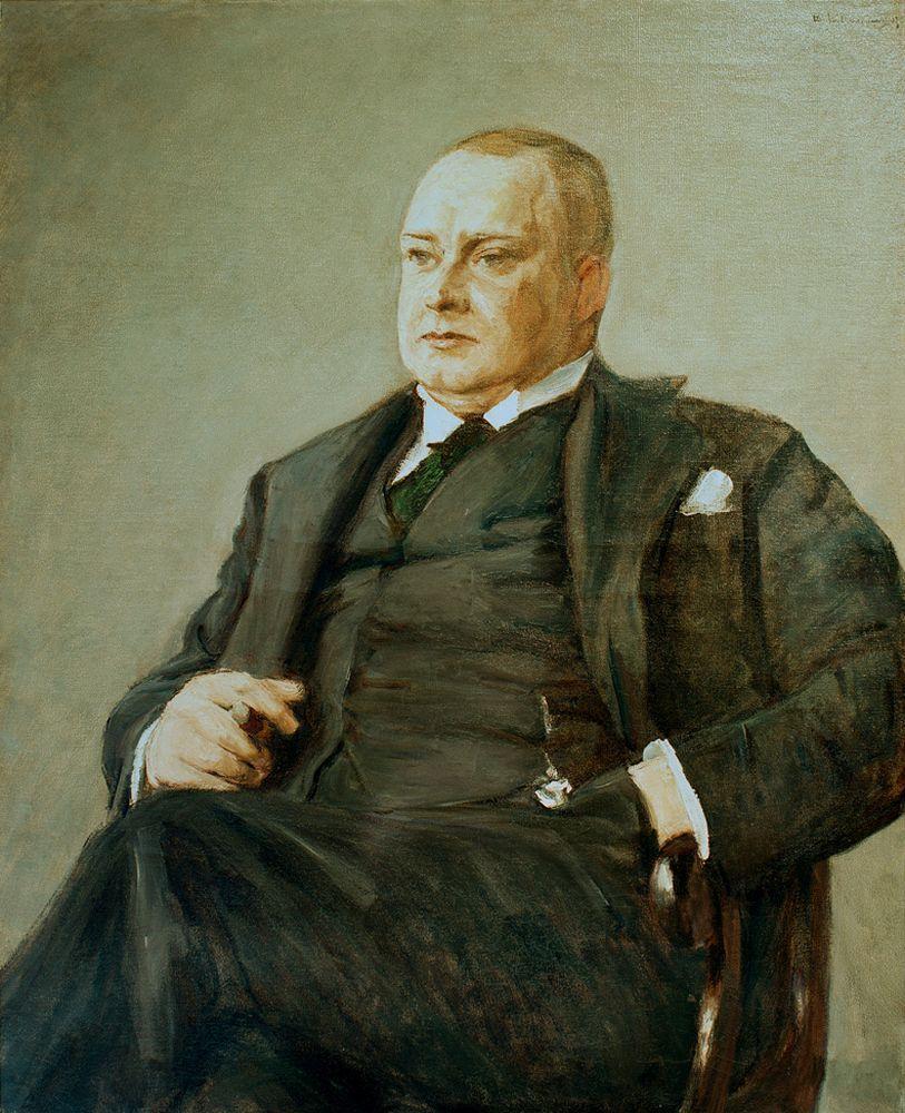 """Max Liebermann """"Porträt Otto Wolff"""" 91 x 11 cm"""